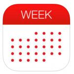 本日の無料アプリ、人気カレンダーアプリの「Week Calendar for iPad」480円→0円