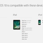 iOS 10の互換性リスト、iPhone 5以降対応