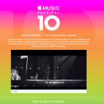 Apple、9月18日~30日の期間「Apple Music Festival 10」をロンドンで開催