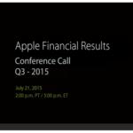 Apple、2015年第3四半期の決算を発表!売上げが33%も増加