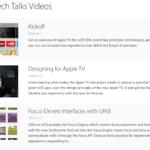 Apple、Apple TV用アプリの開発を支援するためのセッション「Apple TV Tech Talks」のビデオを公開!