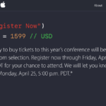Apple、世界開発者会議(Worldwide Developers Conference)を6月13日〜17日に開催することを発表!